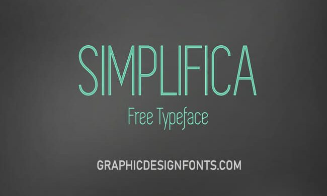 Simplifica Font Family Free Download