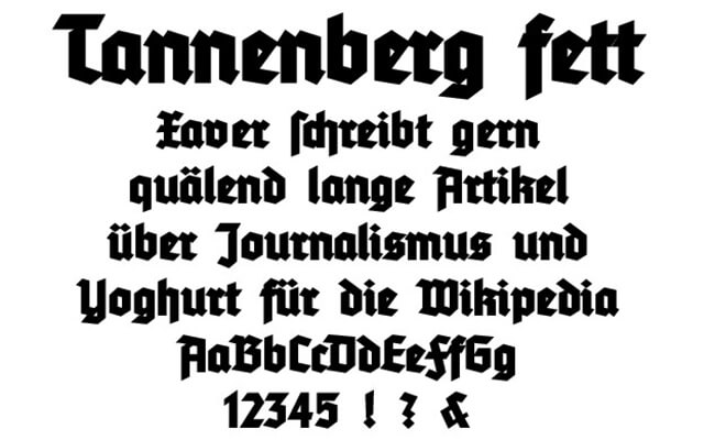 Tannenberg Fett Font Free Download