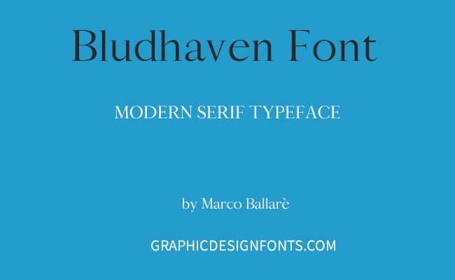 Bludhaven Font Family Free Download
