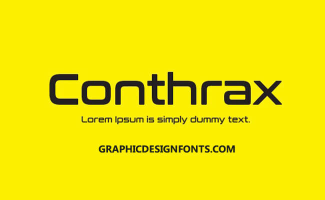 Conthrax Font Family Free Download