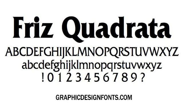 Friz Quadrata Font Family Free Download