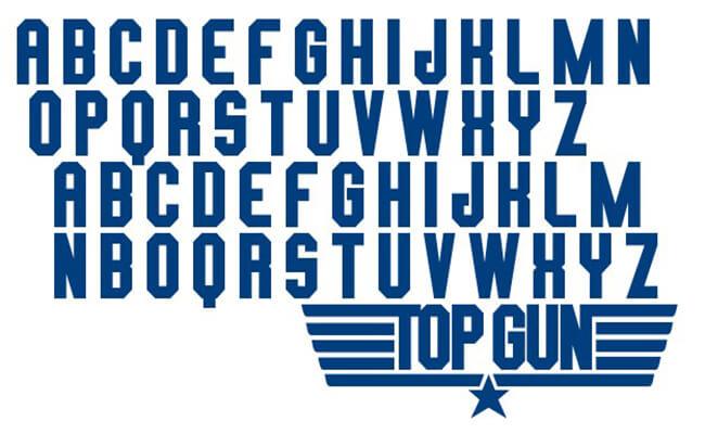 Top Gun Logo Font Free Download