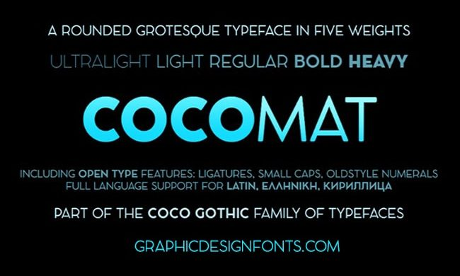 Cocomat Font Family Free Download