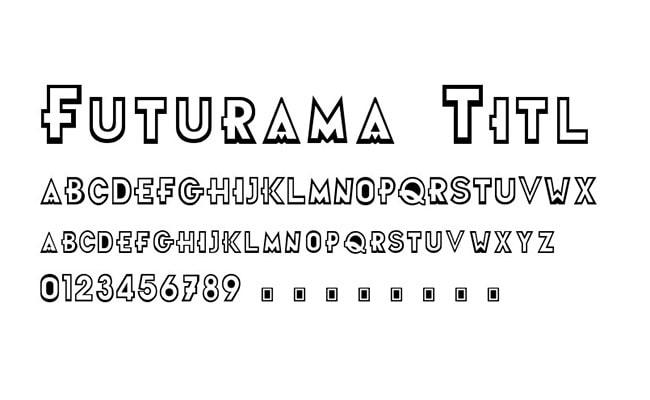 Futurama Font Family Download