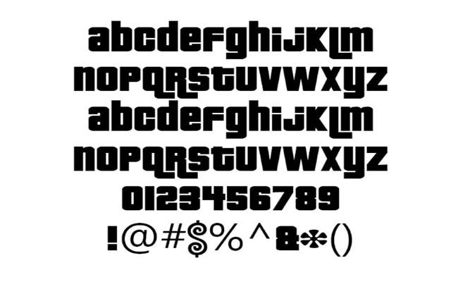 GTA Font Free Download