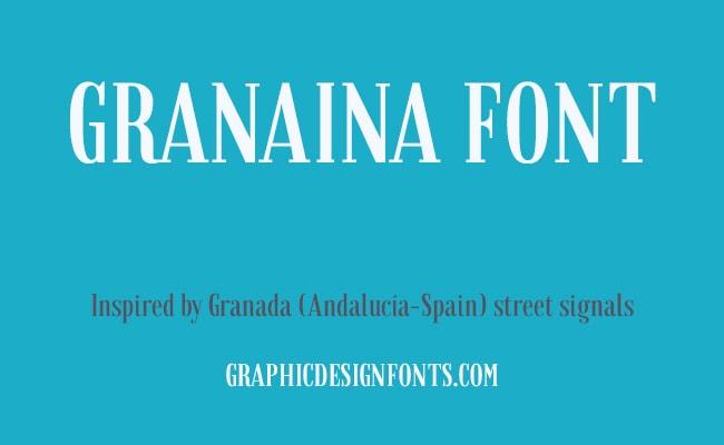 Granaina Font Family Free Download