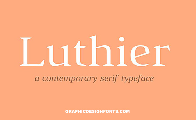 Luthier Font Family Free Download