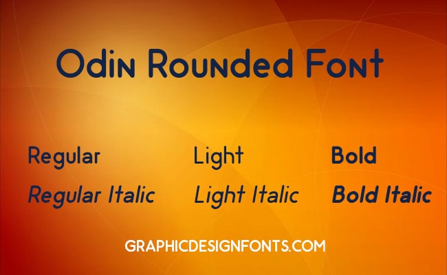 Odin Rounded Font Family Free Download