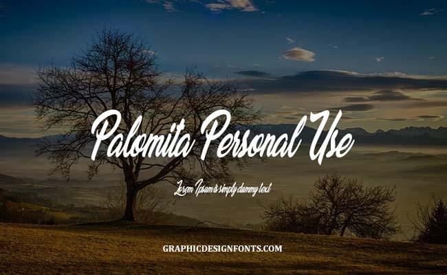 Palomita Font Family Free Download