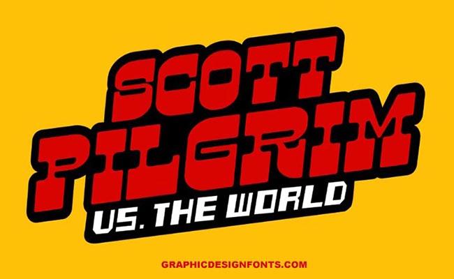 Scott Pilgrim Font Family Free Download