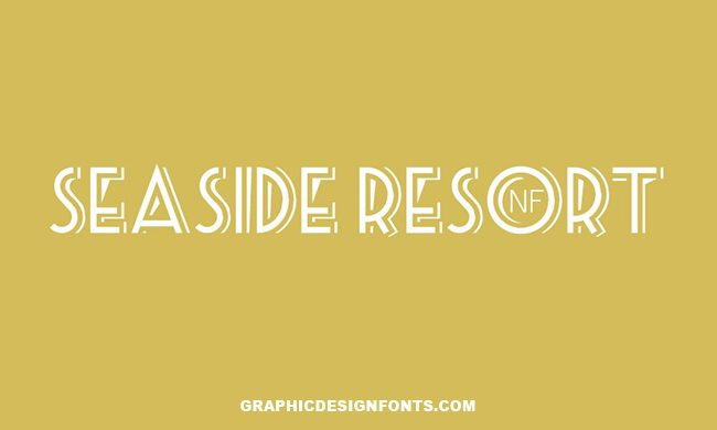 Sea Side Resort Font Family Free Download