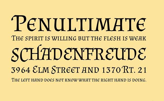 Almendra Font Family Download