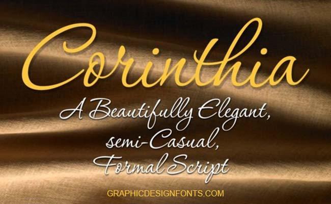 Corinthia Font Family Free Download