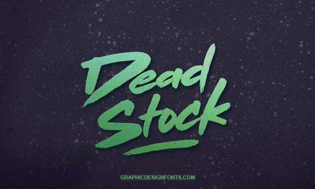 Dead Stock Font Family Free Download