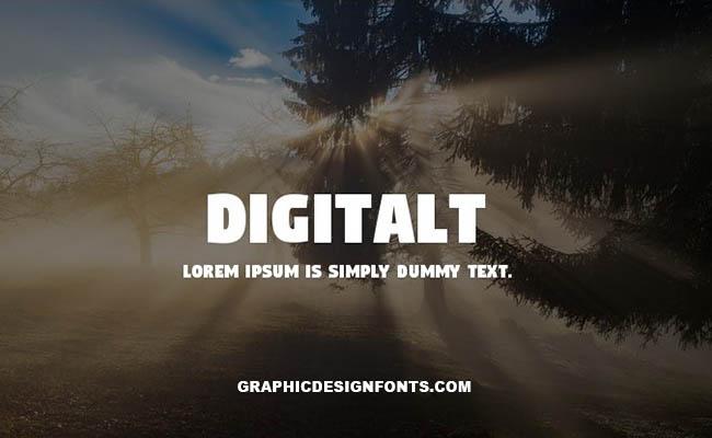 Digitalt Font Family Free Download