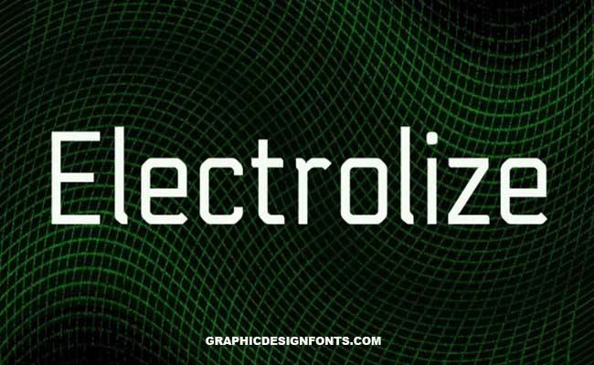 Electrolize Font Family Free Download