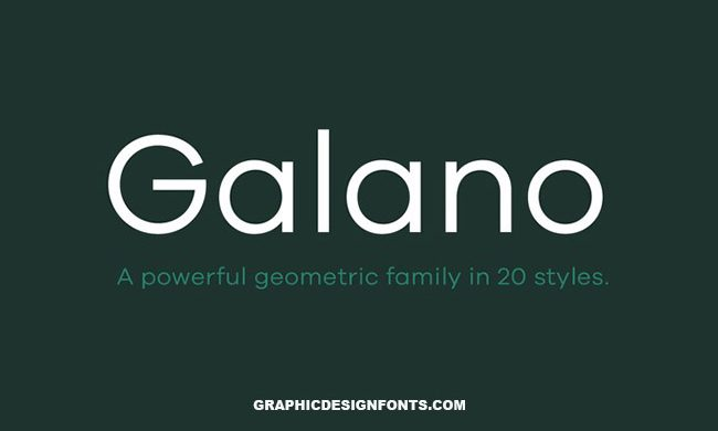 Galano Font Family Free Download