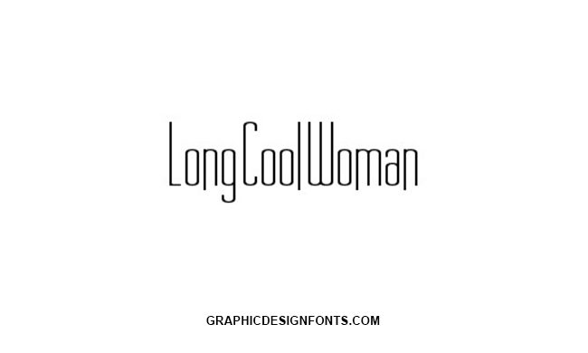 Long Cool Woman Font Family Free Download