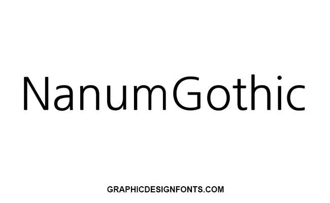 Nanum Gothic Font Family Free Download