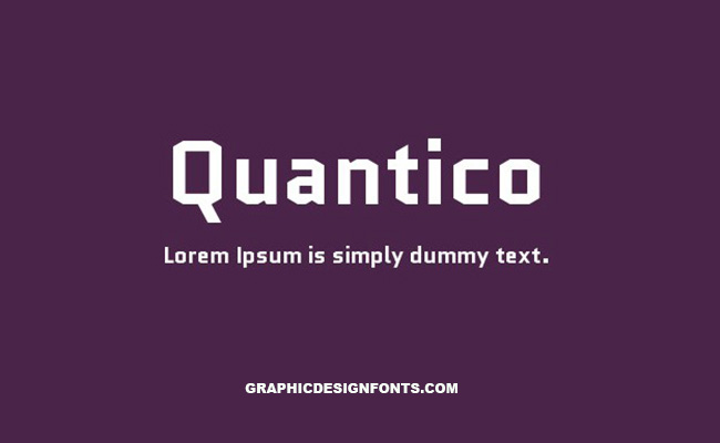Quantico Font Family Free Download
