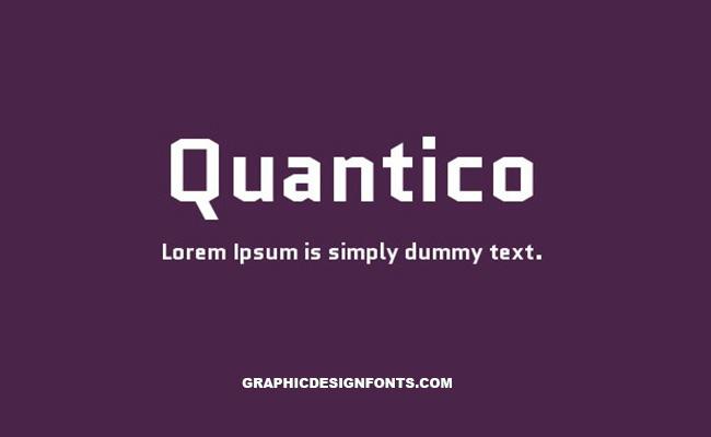 Quantico Font Family Free Download