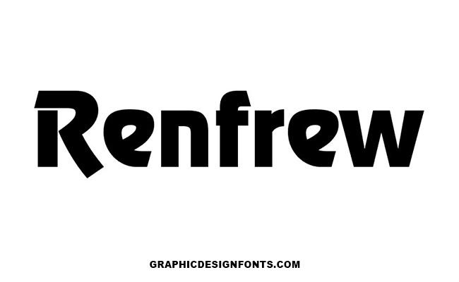 Renfrew Font Family Free Download