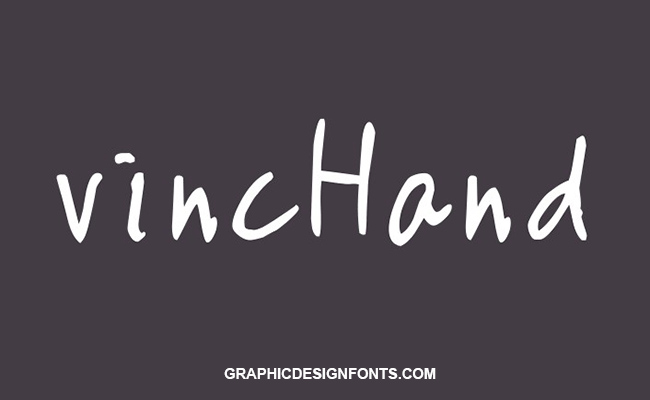 Vinc Hand Font Family Free Download