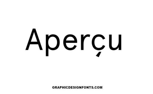Apercu Font Family Free Download