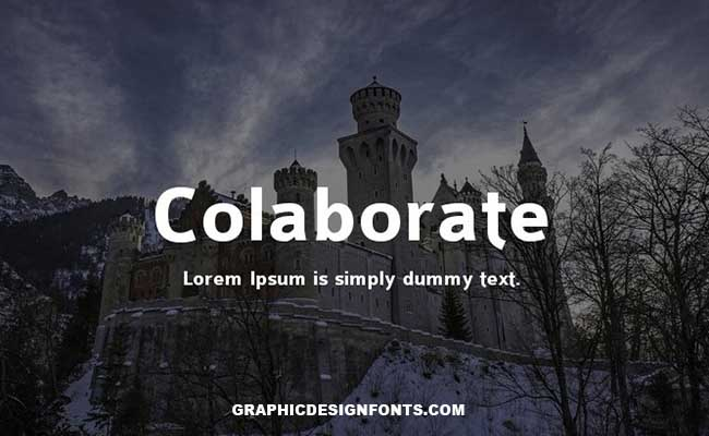 Colaborate Font Family Free Download