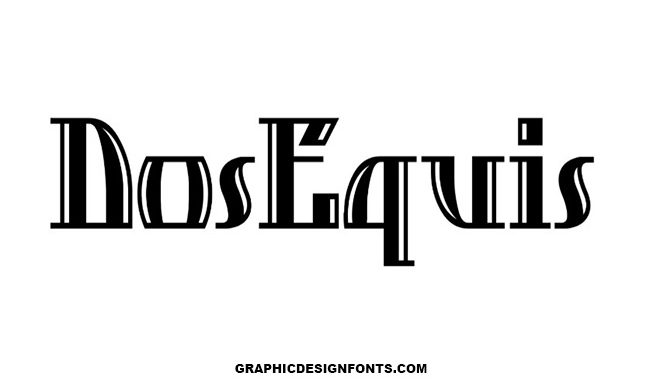 Dos Equis Font Family Free Download