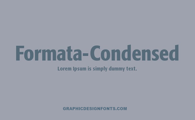 Formata Font Family Free Download