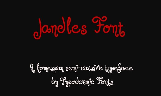 Jandles Font Family Free Download By Ray Larabie