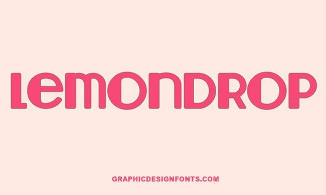 Lemon Drop Font Family Free Download