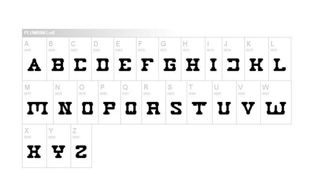 Plumbing Font Family Download