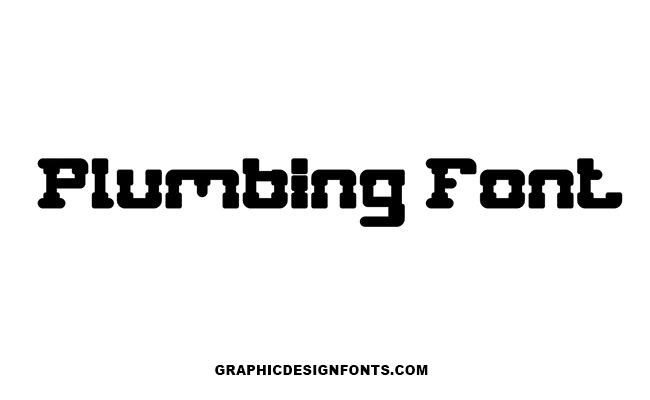 Plumbing Font Family Free Download