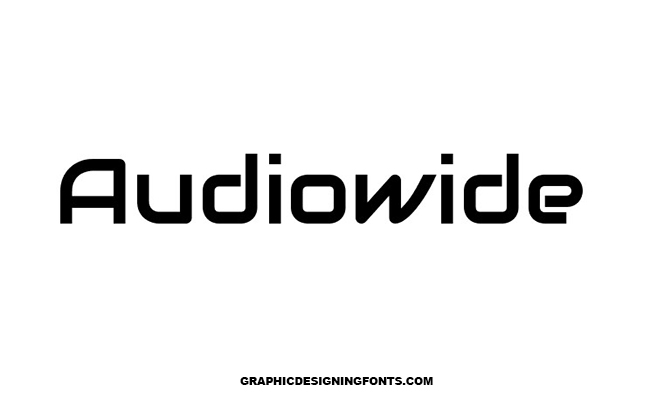 Audiowide Font Family Free Download