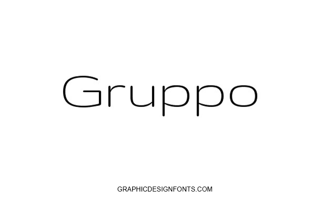Gruppo Font Family Free Download