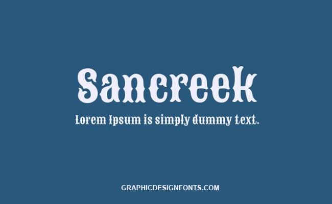 Sancreek Font Family Free Download