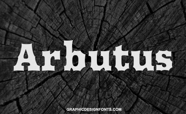 Arbutus Font Family Free Download