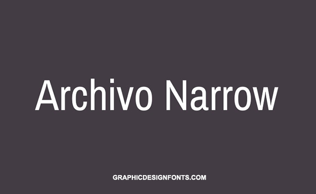 Archivo Narrow Font Family Free Download