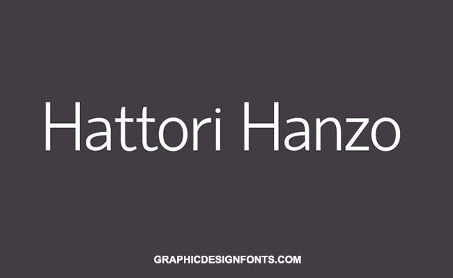Hattori Hanzo Font Family Free Download