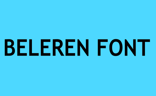 Beleren Font Family Free Download