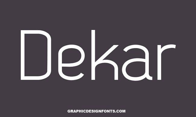 Dekar Font Family Free Download