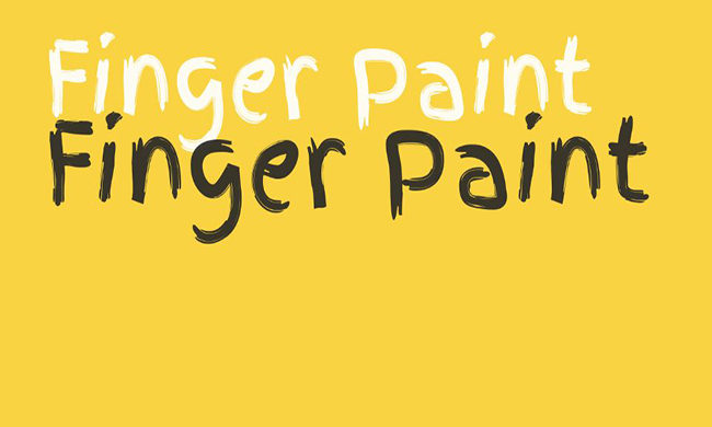 Finger Paint Font Family Free Download