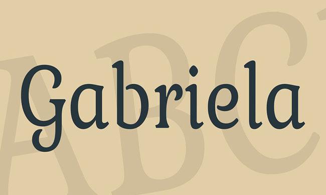 Gabriela Font Family Free Download