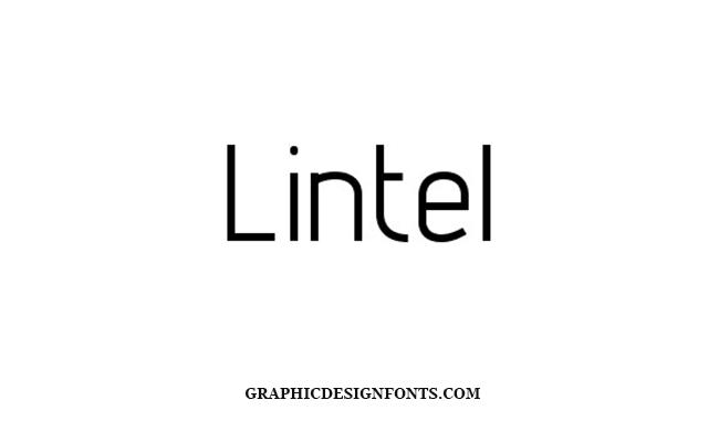 Lintel Font Family Free Download