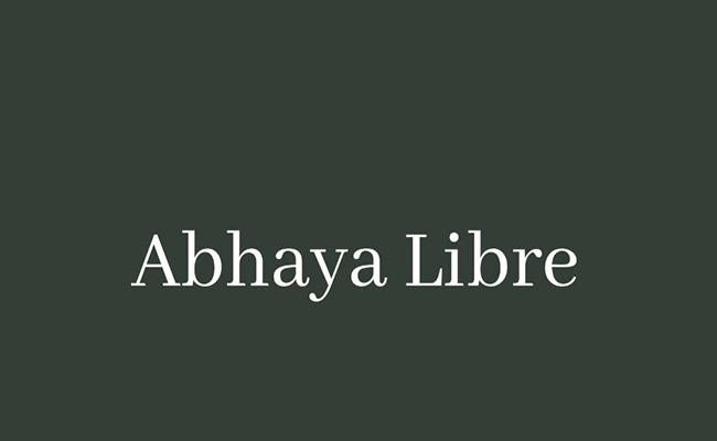 Abhaya Libre Family Font Free Download