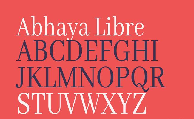 Abhaya Libre Font Free Download