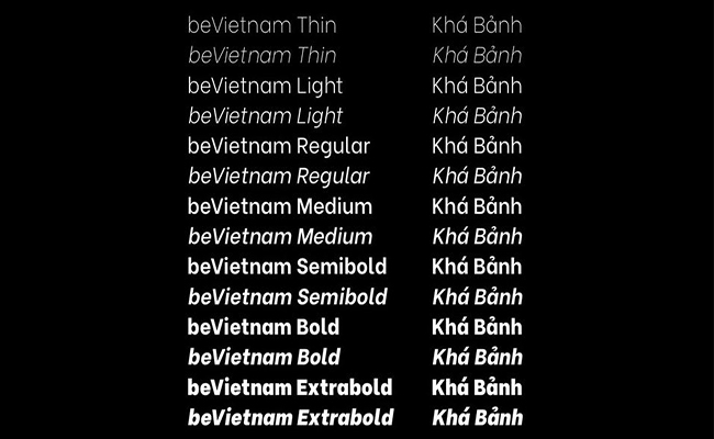 Be-Vietnam-Font-Family- Download