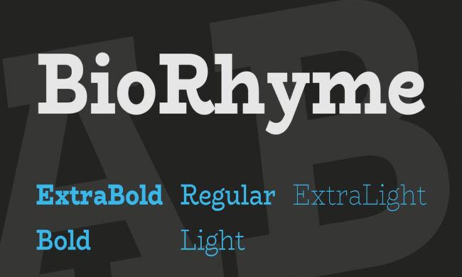 Biorhyme Font Family Free Download